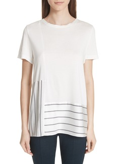 St. John Collection Stripe Mixed Media Top