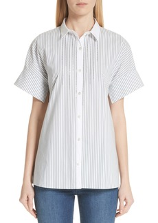 St. John Collection Stripe Shirting Top