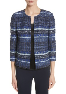 St. John Collection Stripe Tweed Jacket