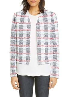 St. John Collection Stripe Tweed Knit Jacket