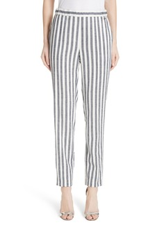 St. John Collection Stripe Twill Pants