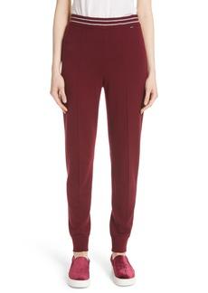 St. John Collection Stripe Waist Cashmere Knit Pants
