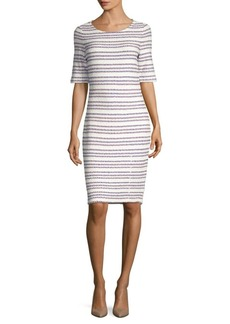 St. John Striped Sheath Dress