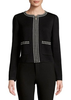 St. John Studded Full Zip Jacket