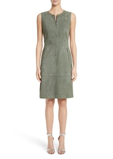 St. John Collection Suede Dress