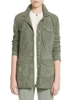 St. John Collection Suede Safari Jacket