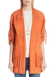 St. John Collection Suede Slouch Jacket
