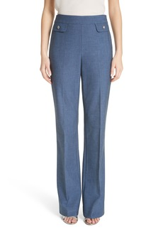 St. John Collection Summer Bella Double Weave Pants