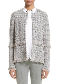 St. John Collection Textural Powder Tweed Jacket