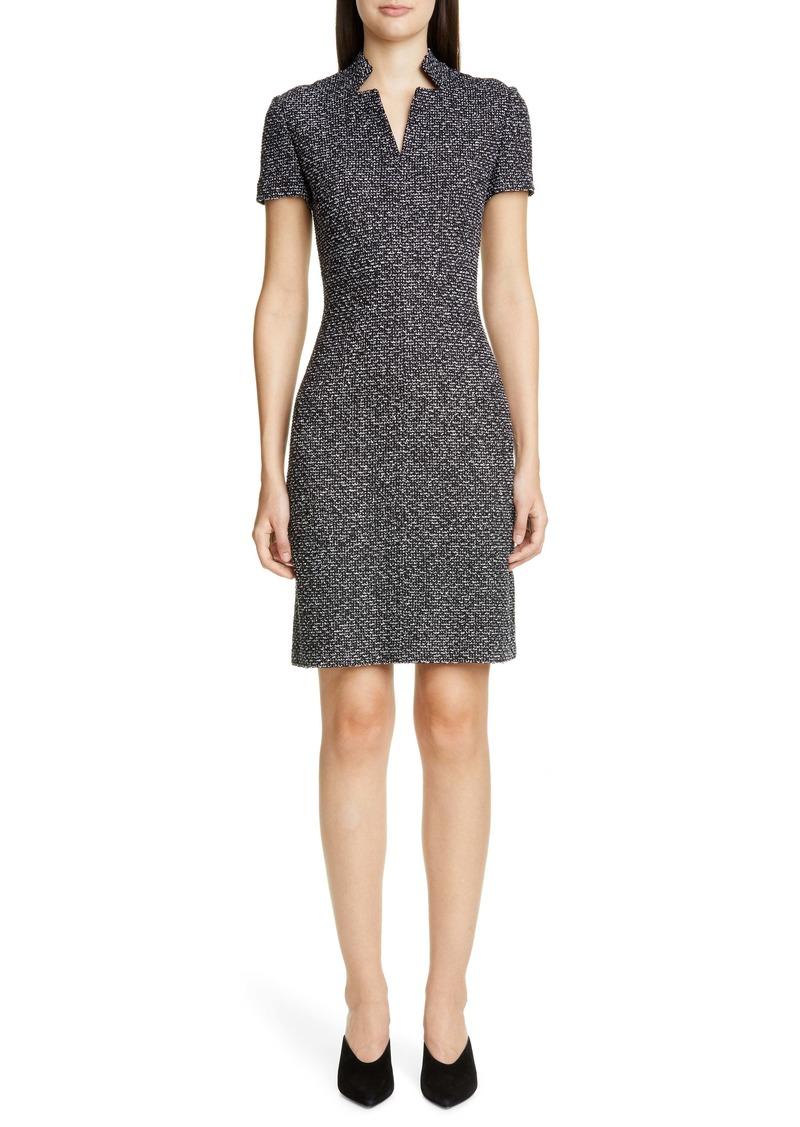 St. John Collection Textured Bouclé Tweed Dress