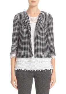 St. John Collection Textured Grid Jacket