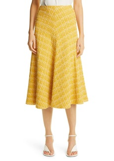 St. John Collection Textured Knit A-Line Skirt