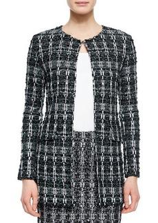 St. John Collection Textured Sparkle Tweed Jacket