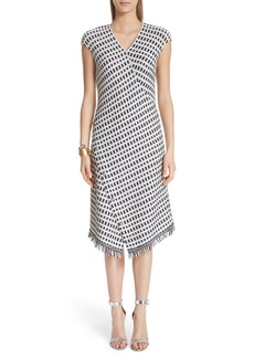 St. John Collection Thatched Grid Knit Dress