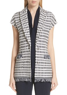 St. John Collection Thatched Grid Knit Jacket