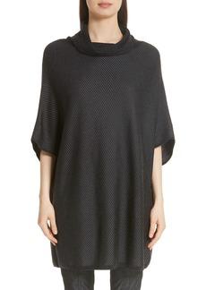 St. John Collection Twill Matte Shine Jacquard Knit Sweater