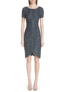 St. John Collection Twinkle Texture Knit Dress