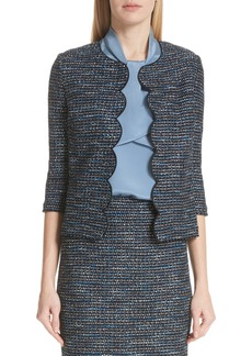 St. John Collection Twinkle Texture Knit Jacket