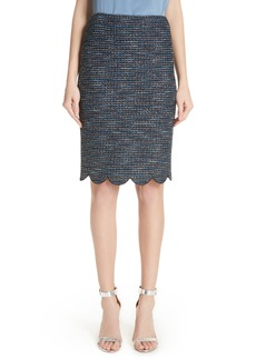 St. John Collection Twinkle Texture Knit Skirt