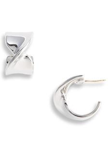 St. John Collection Twist Metal Hoop Earrings
