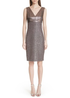 St. John Collection Twisted Sequin Knit Dress