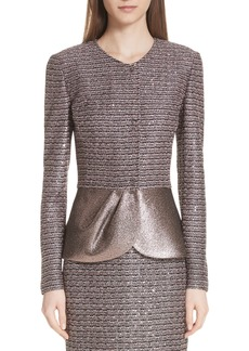 St. John Collection Twisted Sequin Knit Jacket
