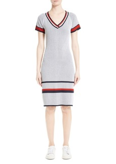 St. John Collection Two-Tone Rib Knit Dress
