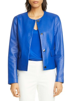 St. John Collection Ultimate Nappa Leather Jacket