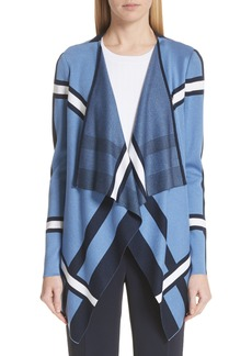 St. John Collection Variegated Stripe Cardigan