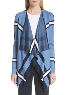 St. John Collection Variegated Stripe Cardigan