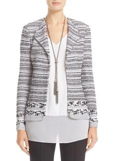 St. John Collection Variegated Stripe Tweed Jacket