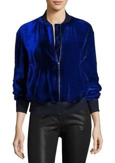 St. John Collection Velvet Bomber Jacket