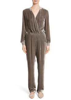 St. John Collection Velvet Jumpsuit