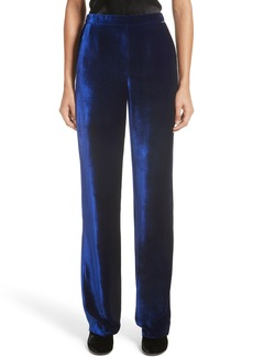 St. John Collection Velvet Wide Leg Pants