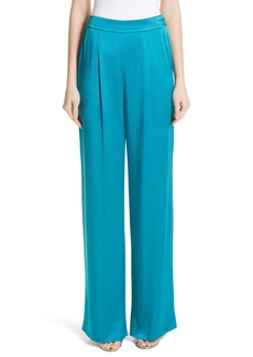 St. John Collection Wide Leg Liquid Crepe Pants