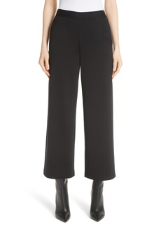 St. John Collection Wide Leg Milano Knit Crop Pants