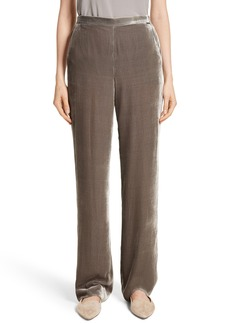 St. John Collection Wide Leg Velvet Pants