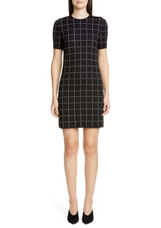 St. John Collection Windowpane Jacquard Sweater Dress