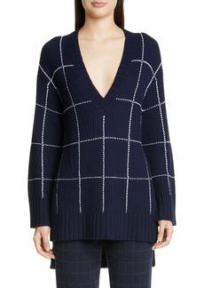 St. John Collection Windowpane Tunic Sweater