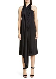 St. John Collectors One-Shoulder Compact Knit Cocktail Dress