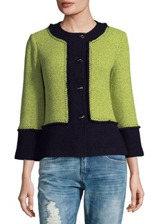 St. John Colorblock Wool-Blend Jacket