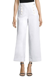 Cropped Luxe Cotton Pants