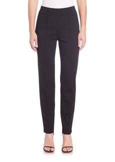 St. John Cropped Pintuck Pants