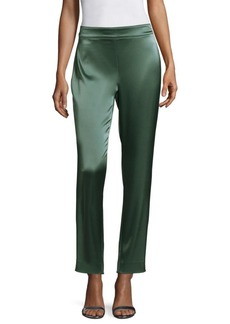St. John Cropped Satin Pants