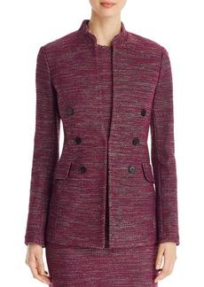 St. John Double Breasted-Detail Tweed Jacket