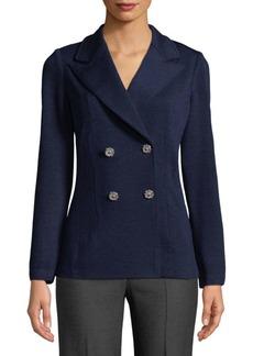 St. John Double-Breasted Knit Jacket
