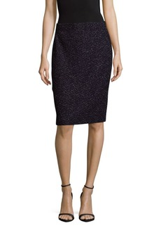 St. John Elasticized Textured Skirt