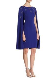 St. John Embellished Cape Dress