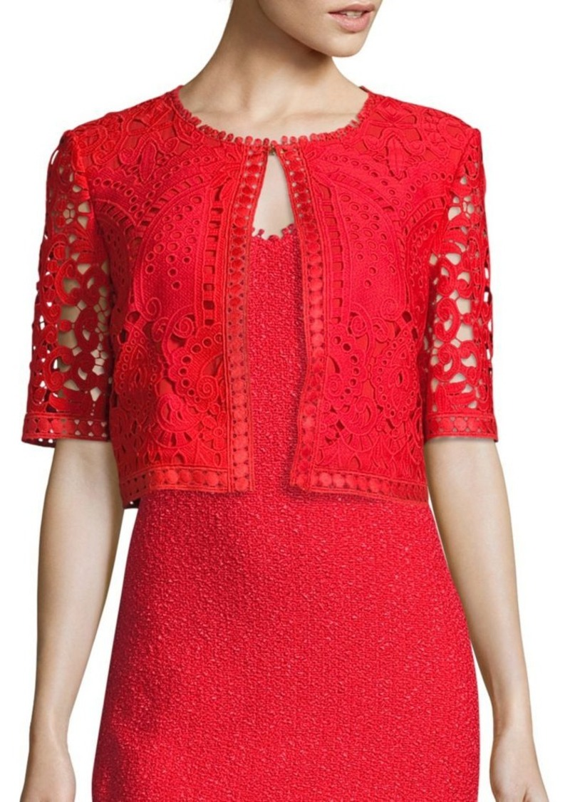 St. John Embroidered Lace Jacket