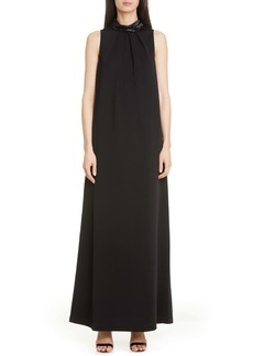 St. John Evening Embellished Liquid Milano Knit Gown